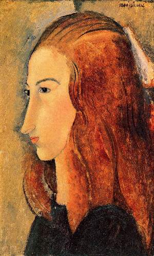 Modigliani - Portrait of Jeanne Hebuterne [5]